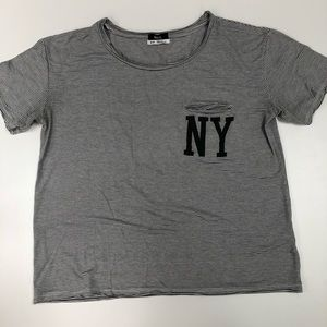 Urban Outfitters BDG Striped NY Pocket Tee Sz S